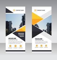 Business Roll Up Banner flat design template set vector image