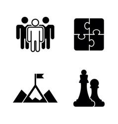 business strategy simple related icons vector image