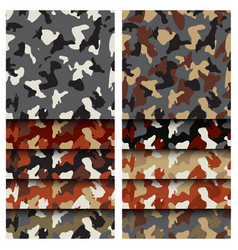 camouflage clothing seamless patterns set vector image