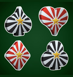card suit gaming web icons vector image