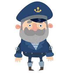 Cartoon captain vector