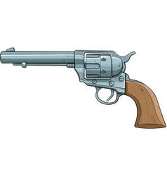 cartoon colt single action revolver 1873 vector image