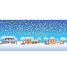 Christmas houses vector