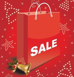 Christmas sale bag vector image