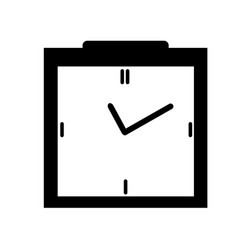 clock icon in black box style timer on isolated vector image
