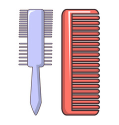 comb brush icon cartoon style vector image