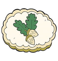 comic cartoon acorn symbol vector image