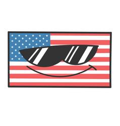 cool sunglasses american flag cartoon vector image