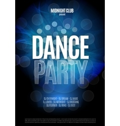 Dance Party Night Poster Background Template vector image