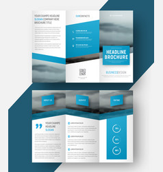 Design a tri-fold brochure vector