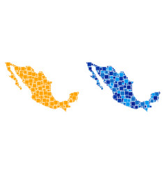 Dot mexico map with blue variant vector