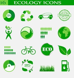 Ecology icons emblem vector