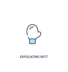 Exfoliating mitt concept 2 colored icon simple vector