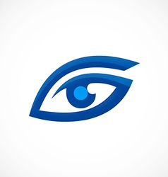 eye vision optic abstract logo vector image