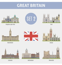 Famous places cities in uk kingston vector
