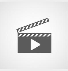 film icon movie icon vector image