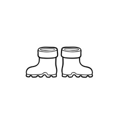 Flat baby kid rubber boots isolated vector