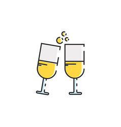 Flat color cheers icon vector