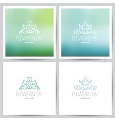 Floral logo set vector