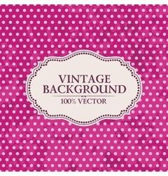 Frame on vintage background Pink wallpaper with vector image
