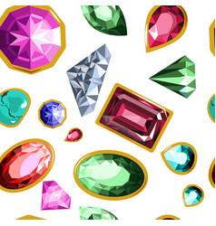 gems and diamonds precious stones seamless vector image