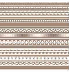 geometric seamless pattern brown cacao vintage vector image