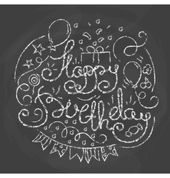 Happy Birthday Typographics Design vector image