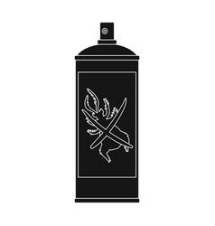 hexachlorane aerosol single icon in black style vector image