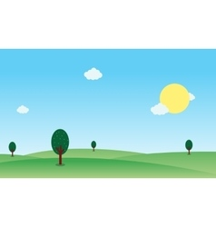 Hill nature landscape vector