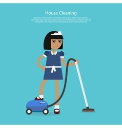 House cleaning template web page vector