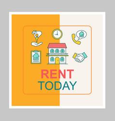 House for rent social media posts mockup vector