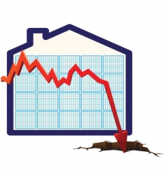 House prices graph vector