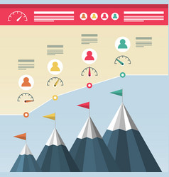 infographic design with mountains business vector image