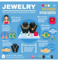 Jewelry Infographic Set vector image