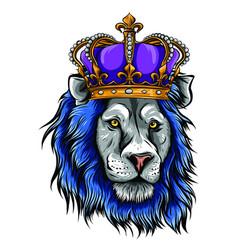 Lion king head a vector
