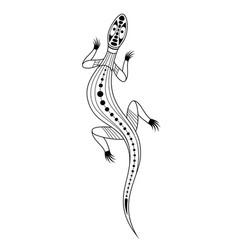 Lizard aboriginal art style monochrome isolated vector