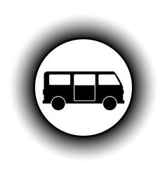 Minibus button vector