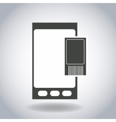 Mobile tools design vector image