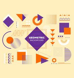 modern geometric background vector image