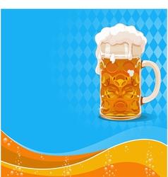 Oktoberfest beer background vector image