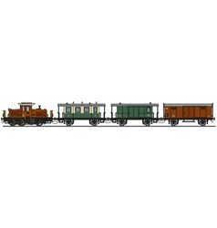 Old diesel train vector