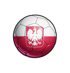 Polish eagle flag football - soccer ball vector