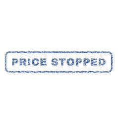 price stopped textile stamp vector image