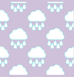 raining cloud and falling drops seamless pattern vector image