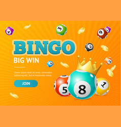 Realistic detailed 3d lotto concept bingo big win vector