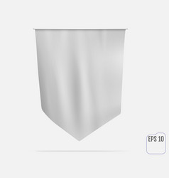 realistic white flag or pennant mockup vector image