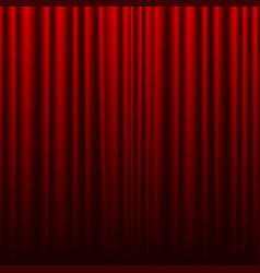 red theater curtain background for banner or vector image