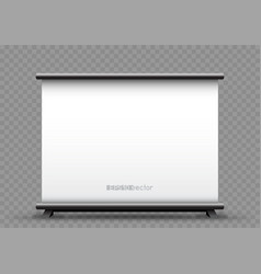 roll up wide banner transparent background vector image