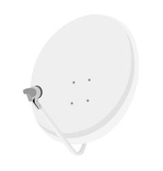 satellite dish antenna isometric view radar icon vector image