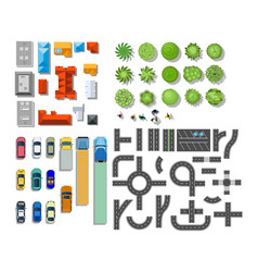set landscape elements vector image